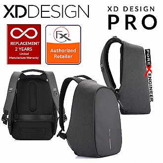 XD Design Bobby Pro Anti-Theft Backpack with Extensible Key Chain & Cutproof Material - Black