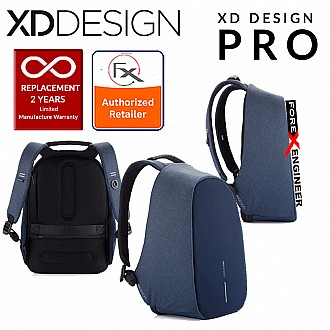 XD Design Bobby Pro Anti-Theft Backpack with Extensible Key Chain & Cutproof Material - Blue