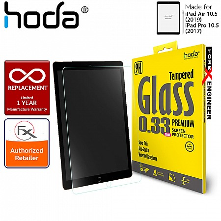 """Hoda Tempered Glass Screen Protector for iPad Air 10.5"""" (2019) / Pro 10.5"""" (2017) - 0.33mm Full Coverage Screen Protector - Black"""