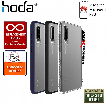 HODA ROUGH Military Case for Huawei P30 - Military Drop Protection - Black