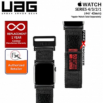 UAG Active Strap for Apple Watch Series 4 / 3 / 2 / 1 - 44mm / 42mm - High Strength Nylon Weave - Black