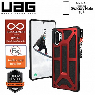 UAG Monarch for Samsung Galaxy Note 10+ / Note 10 Plus - Rugged Military Drop Tested - Crimson