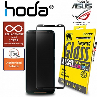 Hoda Tempered Glass for ASUS ROG 2 / ASUS ROG Phone 2 (ZS660KL) - 2.5D 0.33mm Screen Protector - Black