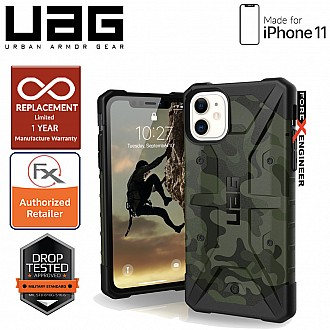 UAG Pathfinder for iPhone 11 - Feather Light Rugged & Military Drop Tested - Forest Camo