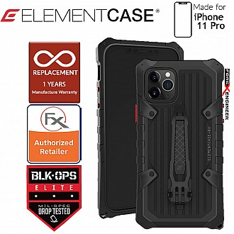 Element Case Black Ops Elite for iPhone 11 Pro - Made with aircraft grade aluminum (Black)