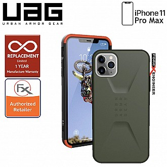 UAG Civilian for iPhone 11 Pro Max - Olive Drab Color