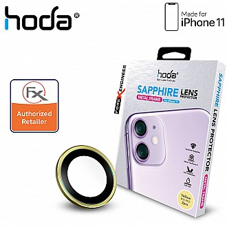 Hoda Sapphire Lens Protector for iPhone 12 / 12 Mini / 11 - 2 pcs  - Yellow Color