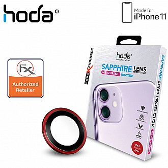Hoda Sapphire Lens Protector for iPhone 12 / 12 mini / 11 - 2 pcs  - Red Color
