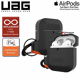 UAG AirPods Gen 1 & Gen 2 Silicone Case - Black / Orange Color