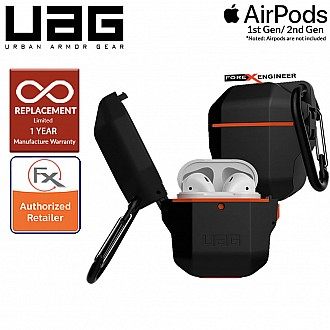 UAG Hardcase for AirPods Gen 1 & Gen 2 - Black / Orange  Color