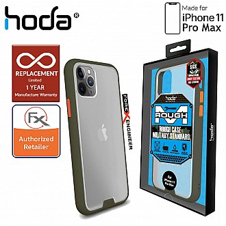 HODA ROUGH Military Case for iPhone 11 Pro Max - Military Drop Protection - Green Color ( Barcode: 4713381514870 )