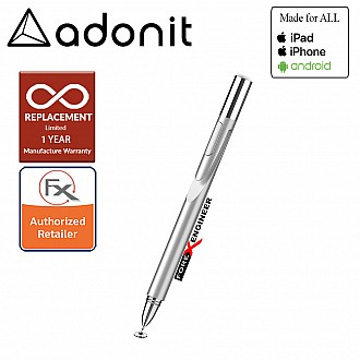 Adonit Jot Pro 4.0 ( Silver ) Compatible for All Touchscreens ( Barcode: 847663023195 )