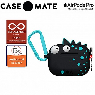 Case Mate CreaturePods for Airpods Pro - Spike Harmless Case with Teal Blue Carabiner Clip ( Barcode : 846127191807 )
