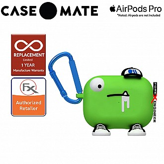 Case Mate Creature Pods for Airpods Pro - Chuck The Cool Guy Case with Blue Carabiner Clip ( Barcode : 846127191814 )