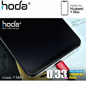 Hoda Tempered Glass Screen Protector for Huawei Y Max - 2.5D 0.33mm Full Coverage Screen Protector