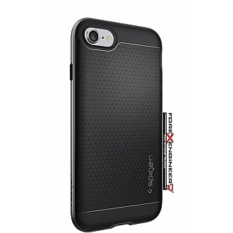 Spigen Neo Hybrid for iphone 7 with Flexible Inner Protection and Reinforced Hard Bumper Frame - Gunmetal