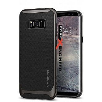 Spigen Neo Hybrid for Samsung Galaxy S8 with Flexible Inner Protection and Reinforced Hard Bumper Frame - GunMetal color