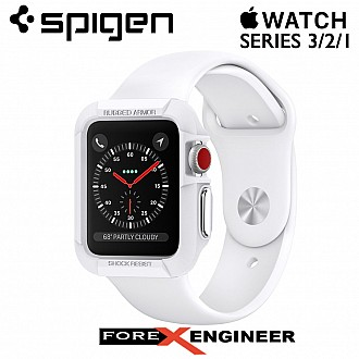 Spigen Rugged Armor for Apple Watch Series 3 / 2 / 1 (42mm) Protection Case - White