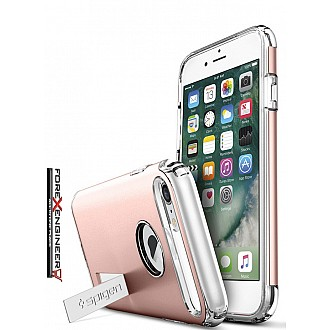 Spigen Slim Armor Case with Air Cushion Technology Hybrid Drop Protection and Kickstand for iPhone 7 - Rose Gold
