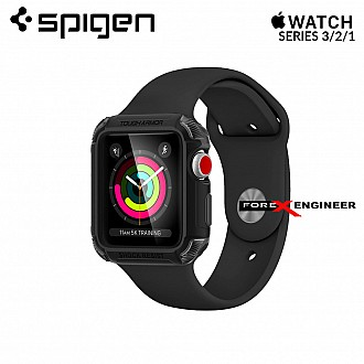 Spigen Tough Armor 2 Apple Watch Series 3 / 2 / 1 (42mm) Cases with Extreme Heavy Duty Protection - Matte Black