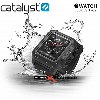 Catalyst Waterproof Case for Apple Watch Series 3 & 2 ( 38mm ) Protection Case - Stealth Black