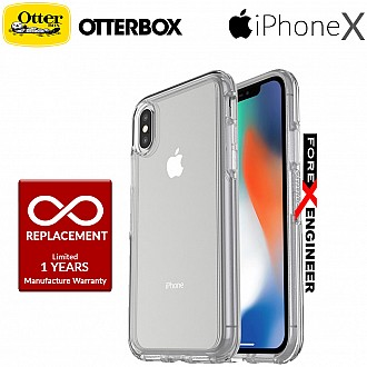 OtterBox Symmetry Clear Series for iPhone X - Clear Crystal color