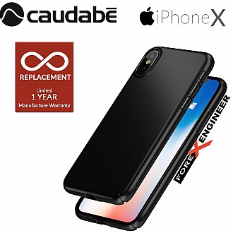 Caudabe Lucid Clear for iPhone X / Xs - Obsidian
