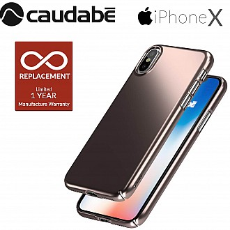 Caudabe Lucid Clear for iPhone X / Xs - Rose Gold