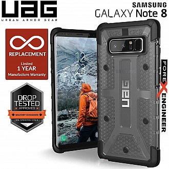 UAG Plasma for Samsung Note 8 - Feather-Light Rugged Military Drop Tested - Ash color