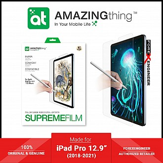 """AMAZINGTHING Paperlike Texture Simulation Drawing Film for iPad Pro 12.9"""" ( 5th / 4th / 3rd Gen) ( 2021 - 2018 ) M1 Chip - Matte (Barcode: 4892878059183 )"""
