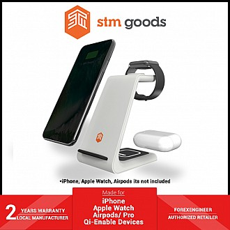 STM ChargeTree 3 in 1 wireless charging station - for iPhone , Apple Watch , and Airpods ( White ) ( Barcode : 810046110003 )
