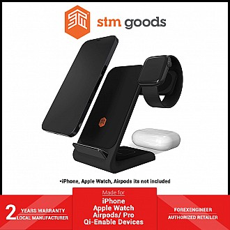 STM ChargeTree Swing 3 in 1 Wireless Charging Station - for iPhone , Apple Watch , and Airpods - Black (Barcode: 810046111222 )