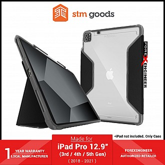 """STM Rugged Plus for iPad Pro 12.9"""" 5th / 4th / 3rd Gen ( 2021 - 2018 ) M1 Chip - Black (Barcode: 810046111277 )"""