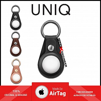 UNIQ Domus Case for AirTag - Include 1 set front & back protective films - Black (Barcode: 8886463677353 )