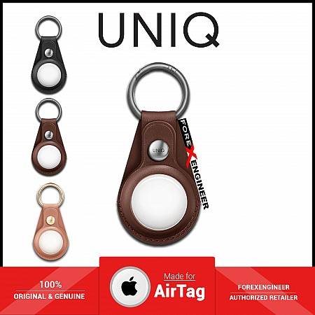 UNIQ Domus Case for AirTag - Include 1 set front & back protective films - Brown (Barcode: 8886463677360 )