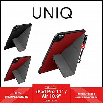 """UNIQ New Transforma for iPad Pro 11"""" / Air 10.9"""" ( 2021 - 2018 ) M1 Chip - Antimicrobial - Red (Barcode: 8886463677414 )"""