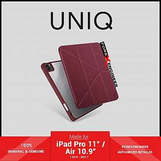"""UNIQ Moven for iPad Pro 11"""" ( 3rd / 2nd / 1st Gen ) ( 2021 - 2018 ) / iPad Air 10.9"""" ( 4th Gen )  M1 Chip - Maroon (Barcode: 8886463677438 )"""