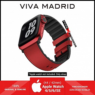 VIVA MADRID Venturx Leather Strap for Apple Watch Series SE / 6 / 5 / 4 / 3 / 2 / 1 ( 42mm / 44mm ) - Red (Barcode: 8886461237566 )