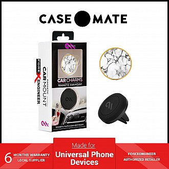 Case-Mate Magnetic Car Mount -White Marble (Barcode: 846127184236 )