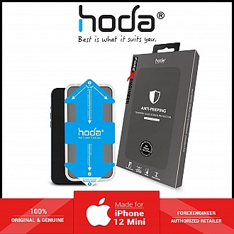 """Hoda Tempered Glass for iPhone 12 Mini 5.4"""" - With Installer 2.5D 0.33mm Full Coverage Tempered Glass -Anti-Peeper (Barcode : 4713381519219 )"""