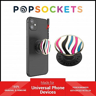 PopSockets Swappable PopGrip Enamel Wild Stripe White ( Barcode : 840173710296 )