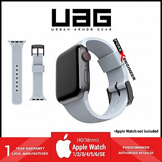 UAG [U] Dot Silicone Strap for Apple Watch Series SE / 6 / 5 / 4 / 3 / 2 / 1 ( 40mm / 38mm ) - Soft Blue (Barcode: 810070360528 )