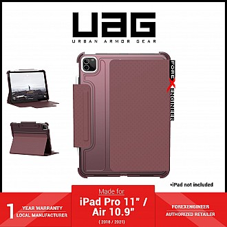 """UAG [U] Lucent for iPad Pro 11"""" ( 3rd / 2nd / 1st Gen ) ( 2021 - 2018 ) / iPad Air 10.9"""" ( 4th Gen ) M1 Chip - Aubergine / Dusty Rose (Barcode: 810070361150 )"""