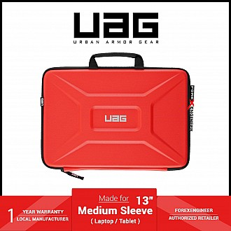 """UAG Medium Sleeve 13"""" for Laptop / Tablet - with handle fall - Magma (Barcode: 812451038569 )"""