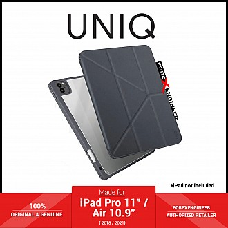 """UNIQ Moven for iPad Pro 11"""" ( 3rd / 2nd / 1st Gen ) ( 2021 - 2018 ) / iPad Air 10.9"""" ( 4th Gen ) M1 Chip - Grey (Barcode: 8886463676431 )"""
