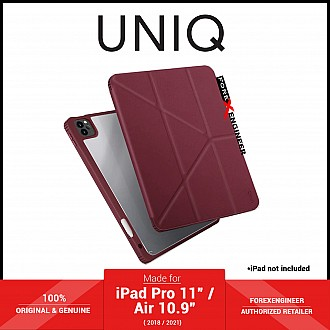 """UNIQ Moven for iPad Pro 11"""" ( 3rd / 2nd / 1st Gen ) ( 2021 - 2018 ) / iPad Air 10.9"""" ( 4th Gen ) M1 Chip - Maroon (Barcode: 8886463676448 )"""