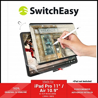 """Switcheasy SwitchPaper Paperlike for iPad Pro 11"""" / Air 10.9"""" ( 2021 - 2018 ) M1 Chip 2 in 1  Magnetic Paper Feel + HD Film Screen Protector ( Barcode: 4895241102349 )"""