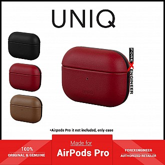 UNIQ Terra for Airpods Pro Case with Genuine Leather - Red (Barcode: 8886463673102)
