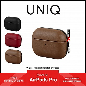 UNIQ Terra for Airpods Pro Case with Genuine Leather - Brown (Barcode: 8886463673126 )