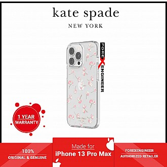 Kate Spade New York Protective Hardshell Case for iPhone 13 Pro Max 5G - Falling Poppies Blush  (Barcode: 191058137777 )